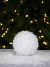 Снежок пушистый белоснежный малый, d 15 см
