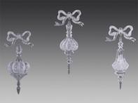 "Капля ""Античная"" прозрачно-серебряная, асс. из 3-х, 7,5х16 см"