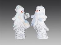 Снеговичок, асс. из 2-х: бело-голубой, бело-зеленый, 11 см