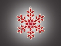 """Снежинка """"Мозаика"""" красно-золотая, 10,5х11 см"""