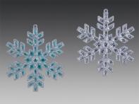 "Снежинка ""Мозаика"", асс. из 2-х: серебряная, серебряно-голубая, 10,5х11 см"