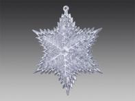 """Снежинка-звездочка """"Орион"""" прозрачно-серебряная, 8,5х9,5 см"""