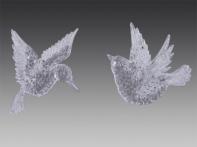 Чибис и Колибри прозрачные, асс. из 2-х, 6х8 см