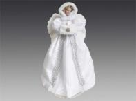 Ангел бело-серебряный, 40 см
