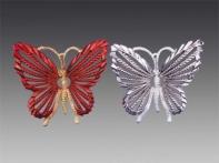 """Бабочка """"Суматра"""", асс. из 2-х: красная с позолотой, графитовая посеребренная, 10,5х10 см"""