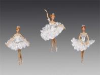 """Балерина """"Белоснежка"""" в бело-голубом платье, асс. из 3-х, 10-16,5 см"""