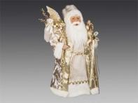 Дед Мороз в золотой парчовой шубе, 45 см