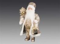 Дед Мороз c фонарем и мешком подарков, 40 см