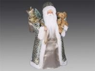 Дед Мороз с медвежонком и мешком подарков, 45 см