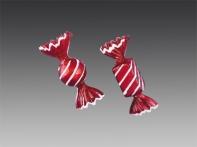 """Конфета """"Ассорти"""" матовая красная с бело-серебряным декором, асс. из 2-х, 4х10,5х4 см"""