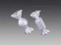"Конфета ""Ассорти"" серебряная искристая, асс. из 2-х, 4х10,5х4 см"