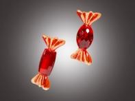 """Конфета """"Рубиновые кристаллы"""" с позолоченной кромкой, асс. из 2-х, 10 см"""