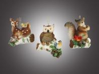 Лесные жители, асс. из 3-х: белка, олененок, сова, 7х8 см