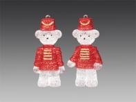 Медвежонок-солдатик прозрачный в красном блестящем мундире, асс. из 2-х, 4,5 х10 см