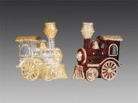 Паровозик игрушечный, асс. из 2-х: прозрачно-золотой, красно-золотой, 8,5х9 см