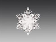 """Снежинка """"Тайны зимнего леса"""" прозрачная с белым искристым декором, 10,5х12 см"""