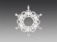 """Украшение новогоднее """"Шарм"""" круглое прозрачное со звездочками и серебристым декором, 11х13 см"""