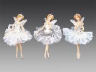 """Фея-бабочка """"Цветочный хоровод"""", асс. из 3-х: в белой, серебряной, голубой пачке, 10х16 см"""