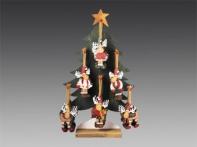 Лось в рождественском колпачке на елке-дисплее (дерево), асс. из 6-ти, 13х7 см