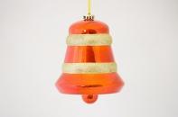 """Новогодняя игрушка """"Объемный колокольчик"""" глянцевый, диаметр 150 мм"""