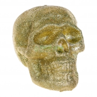 Череп из блесток (шир.15 см. выс.16 см) золотой