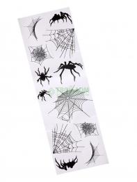 """Набор наклеек """"Пауки с паутинами"""" 24,7 x 69.8 см"""