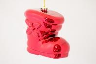 """Новогодняя игрушка """"Сапог объемный"""" глянцевый, диаметр 400 мм"""