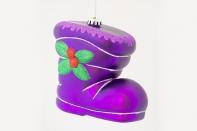 """Новогодняя игрушка """"Сапог объемный"""" матовый, диаметр 200 мм"""