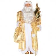"""Фигура декоративная """"Дед Мороз (золотая парча)"""" 132 cm"""